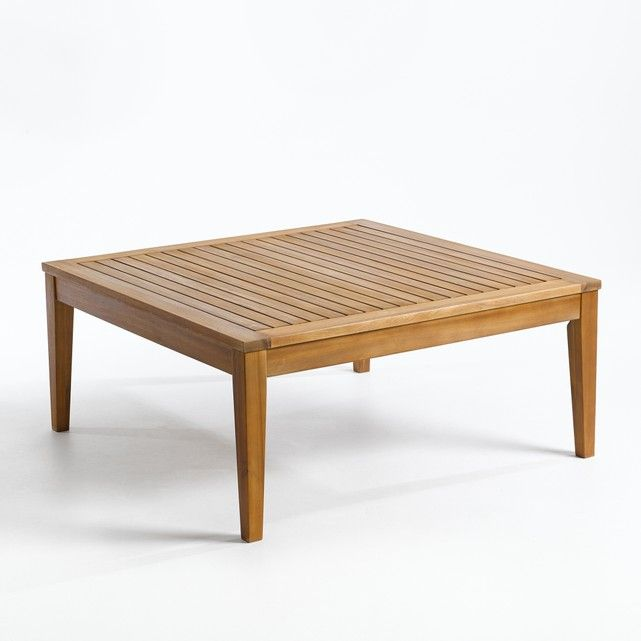 Flacher Gartentisch Cleanthe Akazienholz Gartentisch Akazienholz Tisch