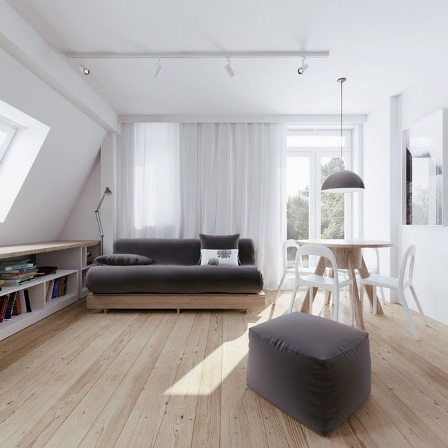 Beautiful attic apartment with clever design features includes floor plans home decorating magazines