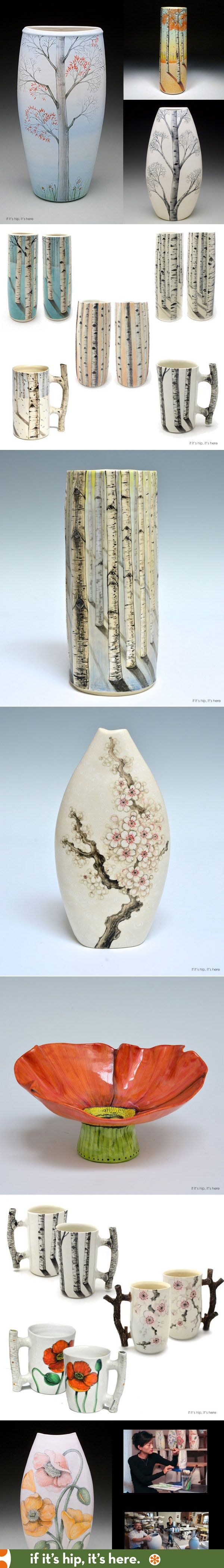 Hand-painted Porcelain by Heesoo Lee at http://www.ifitshipitshere.com/pretty-porcelain-vessels-heesoo-lee/