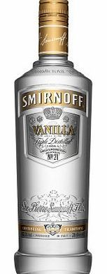 Smirnoff Vanilla Vodka This vanilla flavoured vodka is made with real vanilla and vodka distilled from the finest grains and filtered in a unique process. http://www.comparestoreprices.co.uk/drink/smirnoff-vanilla-vodka.asp