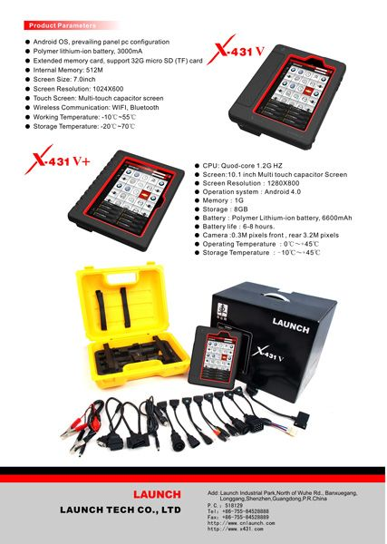 X431 V Full System Automotive Diagnostic Tool is a new diagnostic tool release by Launch tech. It completely replace X431 Pro, it support one click online update, support full range car model from USA, European and Asian. X431 V is perfect tool for car diagnose.