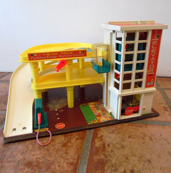 Fisher Price Parking Ramp Service Center 1970 By