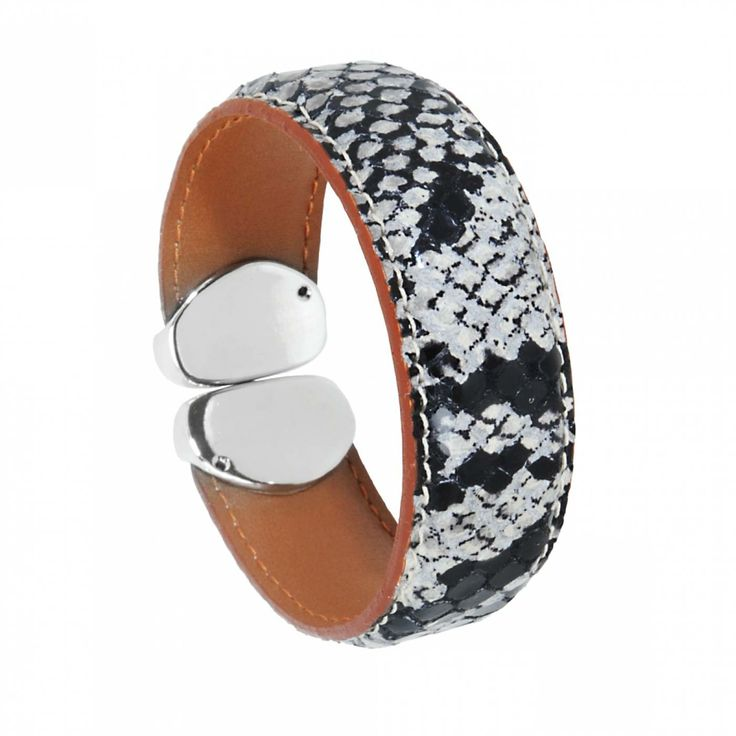 Man bracelet leather black glow - Vanderly