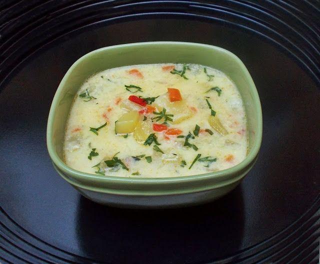 Ciorba cu dovlecei si iaurt - Bunătăți din bucătăria Gicuței