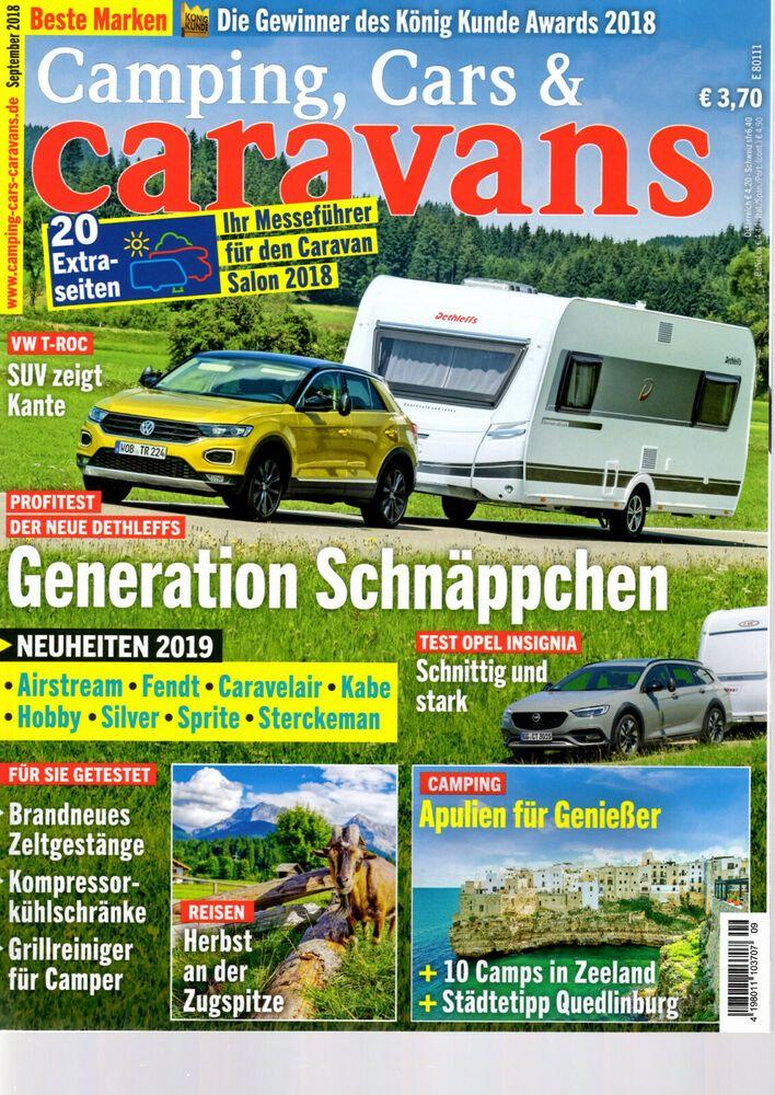 Camping Cars Amp Caravans September 2018 4198011103707 Wohnmobil Camping Caravan Camping Wohnmobil