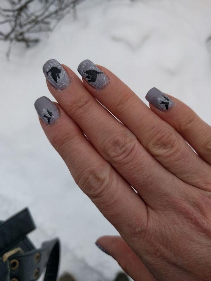 El Corazon thermo polish with stamping. www.ihastukset.blogspot.fi