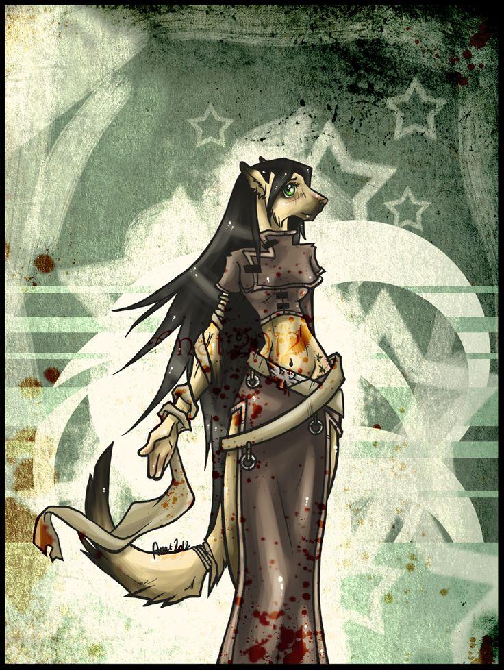 German Shepard Anthro  Art by Hoshi