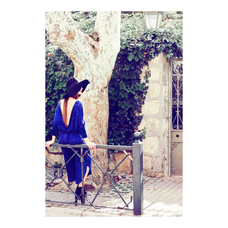 H-ēra open-back cobalt blue jumpsuit now available @ www.h-era.com