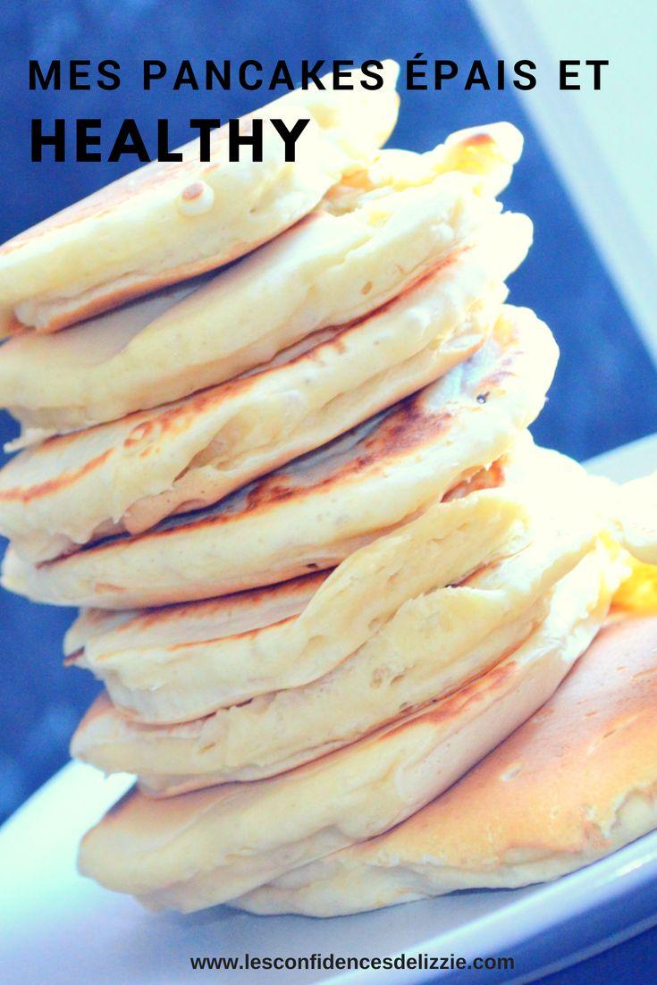 [RECETTE PETIT DEJEUNER HEALTHY] Mes pancakes épais et moelleux
