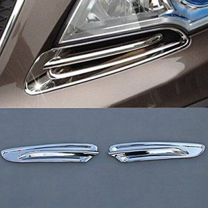 9 MOON® Front Headlight Lamp Eyebrow Cover Trim Exterior For OPEL VAUXHALL MOKKA 2013 2014 ABS Chrome 2pcs per set: Fit OPEL VAUXHALL MOKKA…