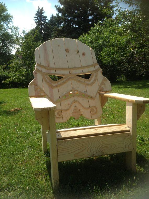 Unfinished Star Wars Storm Trooper Chair,Adirondack Chair, Yard Furniture,  Big Man Sized, Sturdy,, Themed Chair, Custom Beach Chair