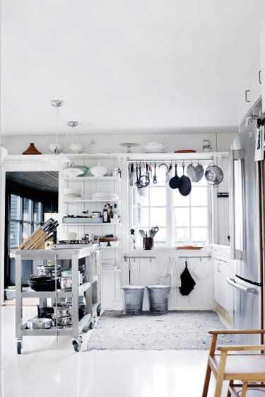 industrial and bright kitchen