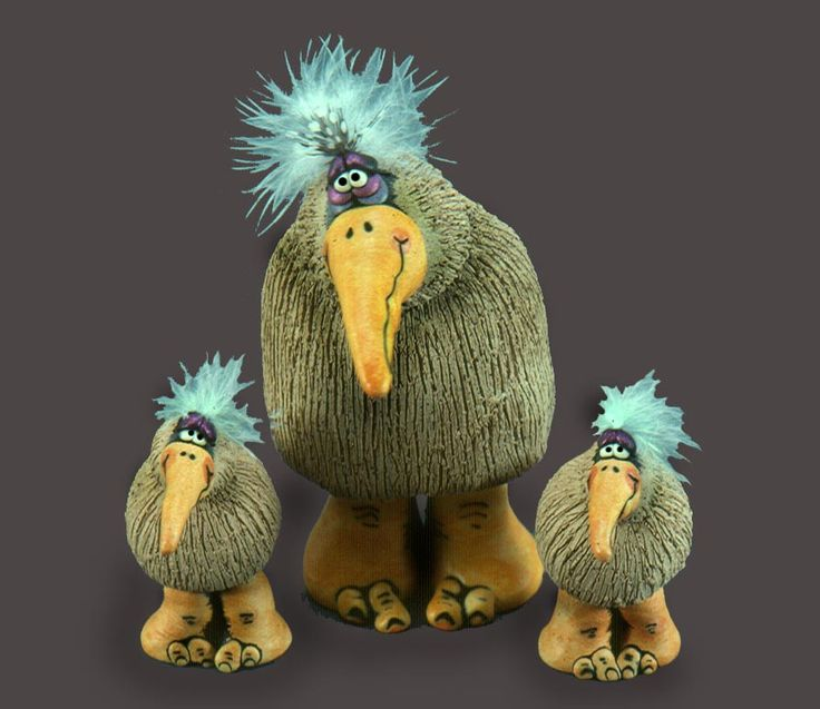 Patz Fowle - Goonie Birds  Ceramic technique
