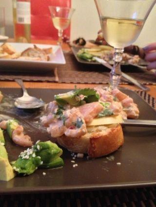 Tartare de saumon, sésame et coriandre - Recettes du Québec