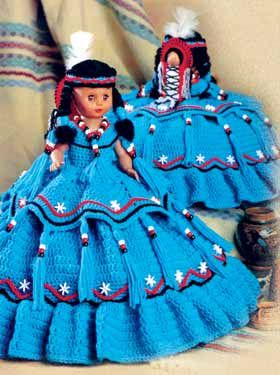 Cactus Flower 13 inch music doll crochet pattern