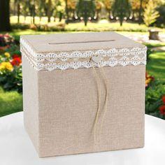 urne de mariage style rustique chic