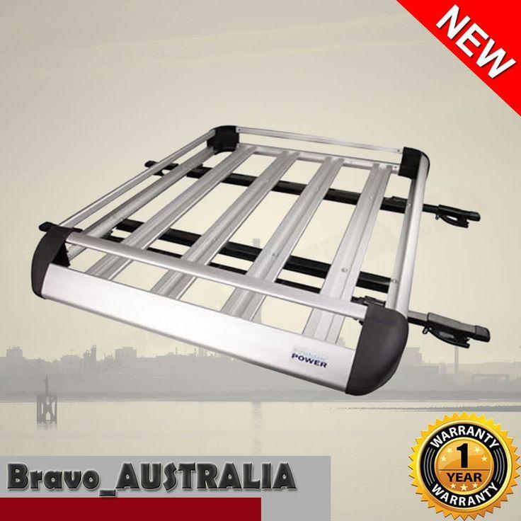 4WD Aluminium Roof Rack Luggage Cargo Carrier Basket Box Bar