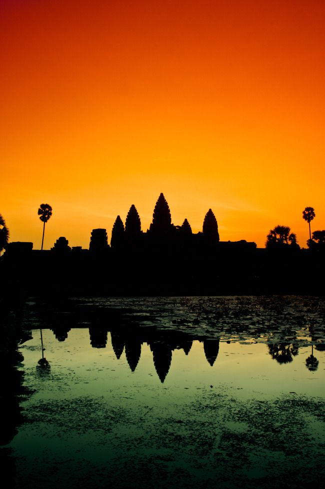 Such beautiful colours. This would make an awesome print. Angkor Wat, Siem Reap, Cambodia.