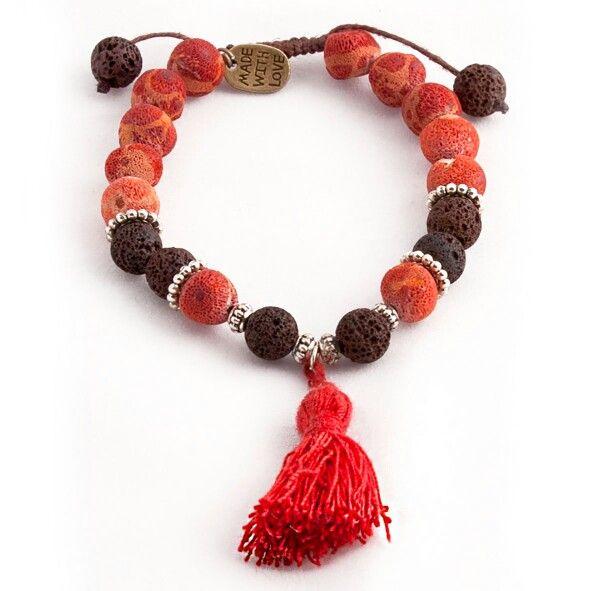 Lava & Coral beads Www.jewlify.com