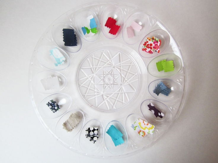 fabric sorting toddler activity