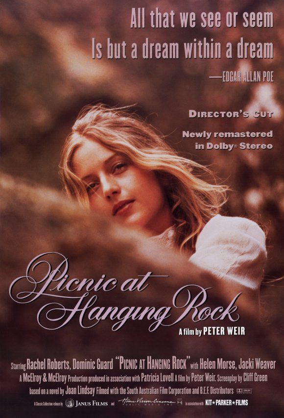 Peter Weir: Picnic at Hanging Rock. Mysterious and vaguely supernatural movie about a disappearance of some teenage girls in Australia.