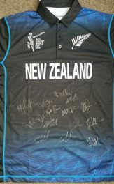 A signed Black Caps raising funds to help Vanuatu which was devastated by Cyclone Pam
