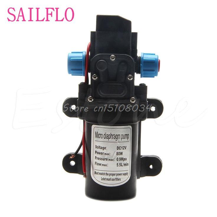 New DC 12V 80W 0142 Motor High Pressure Diaphragm Water Self Priming Pump 6L/Min #S018Y# High Quality #Affiliate