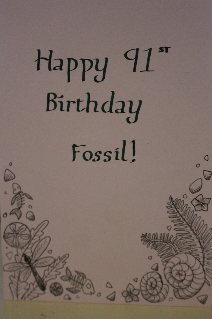 Birthday card for my fossilized grandad