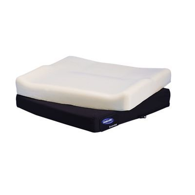 A simple, comfortable and highly functional solution for users with mild support and positioning needs, the Invacare Absolute Wheelchair Cushion features molded, dual-firmness foam for increased comfort and support. Gentle contour in cushion aids in centering in the seat and adds comfort Breathable, water-repellent mesh fabric cover dissipates