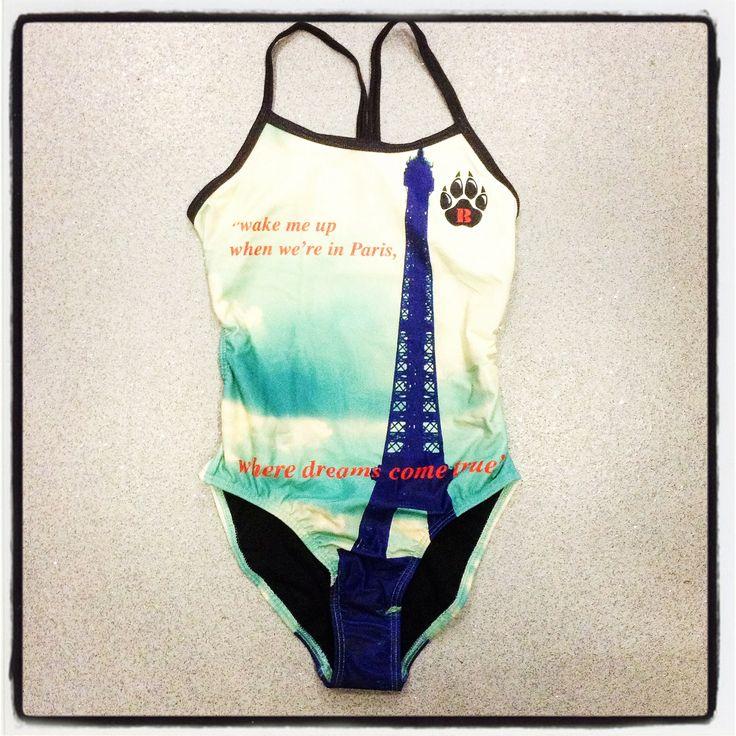"Beyo swimwear ""Paris"" design ! Available this Fall 2014 in store & through Facebook order @makesportsbetter :)"