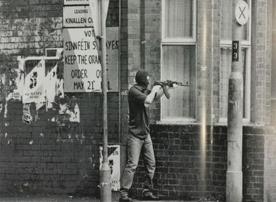 Republican gunman on the streets of Belfast.