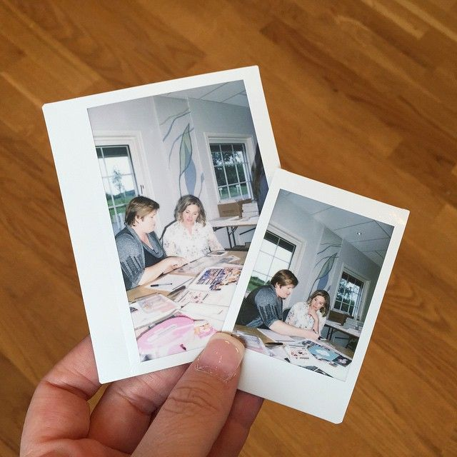 The girls busted out the Instax in my classes.  #BeckyHigginsNorway #hobbykunst