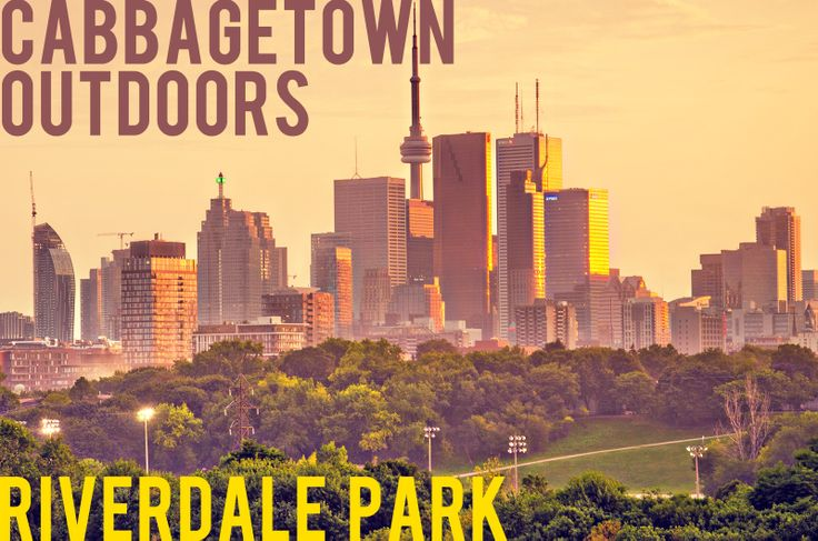 OUTDOORS: Riverdale Park, Toronto is a large park spanning the Lower Don River, between Cabbagetown BIA to the west and Riverdale to the east. It features two ball diamonds, three multi-purpose sports fields, a running track, seven tennis courts, an artifical outdoor ice rink and ball hockey pad, a picnic area and a children's playground.  It's also a great place for a bike ride!