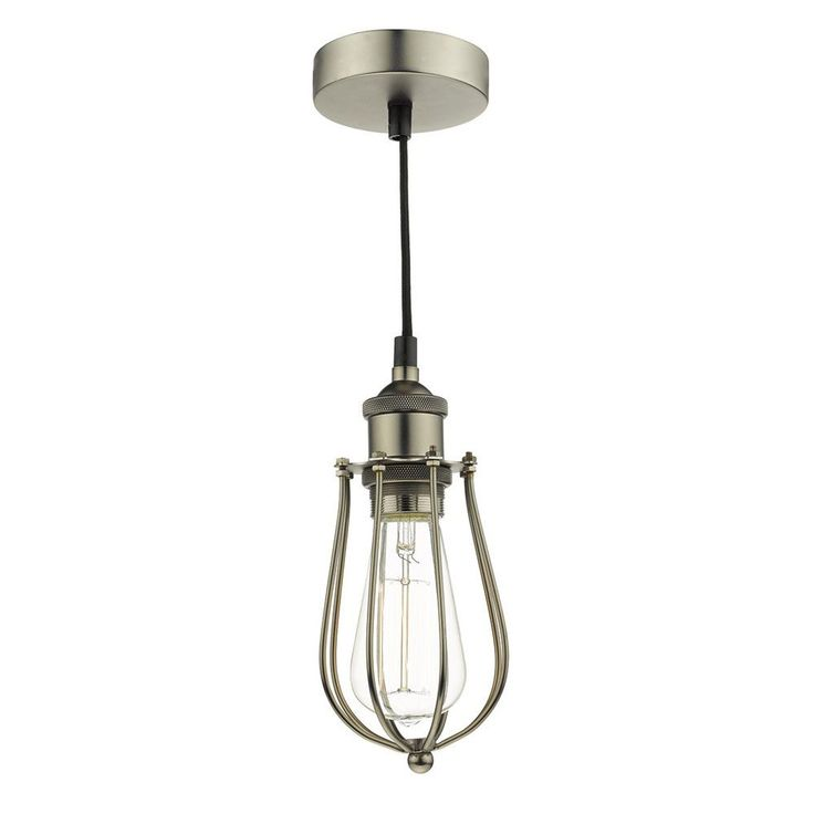 Kitchen pendants dar taurus pendant is an industrial style cage pendant with a pewter finish featuring top screw details for an authentic vintage style
