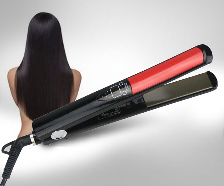 Professional Hair Straightener Digital LCD Display Titanium plates Flat Iron Straightening Irons Styling Tools EU Plug