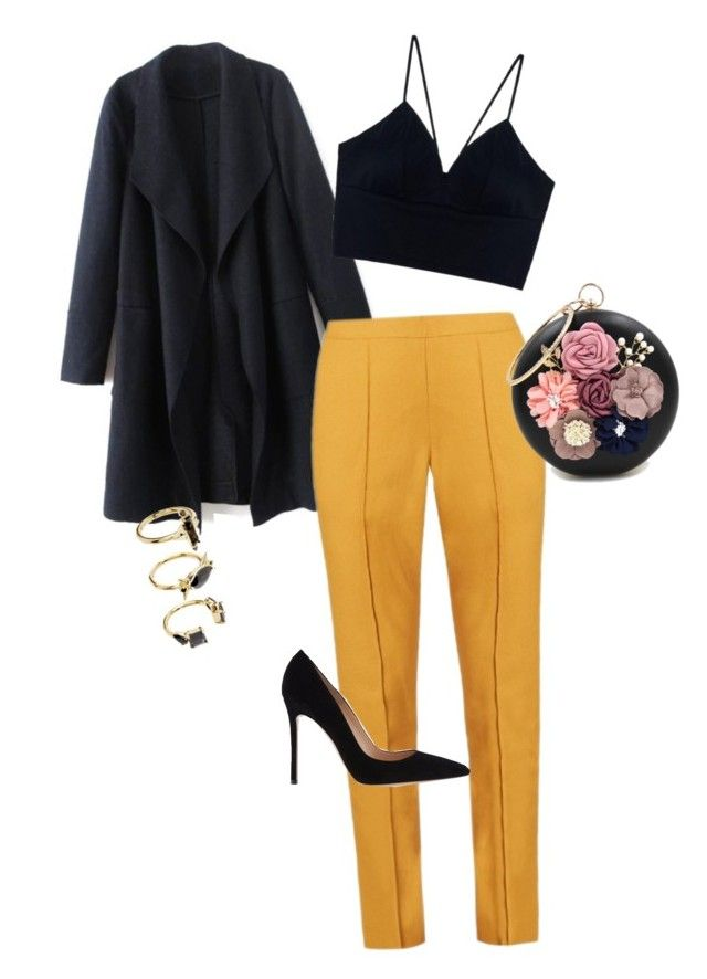 """""""#wildmila Evening Meeting"""" by jemila-mentari on Polyvore featuring Mode, Rosie Assoulin, Gianvito Rossi, WithChic und Noir Jewelry"""