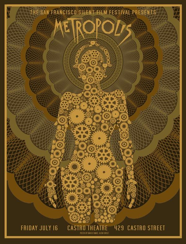 Poster designed for a 16 July 2010 screening of Metropolis at the Castro Theatre, San Francisco.