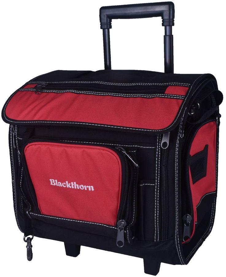 Blackthorn Tool Bag With Wheels - Heavy Duty 14.5 Inch Rigid Roller w/ 66lb Capacity