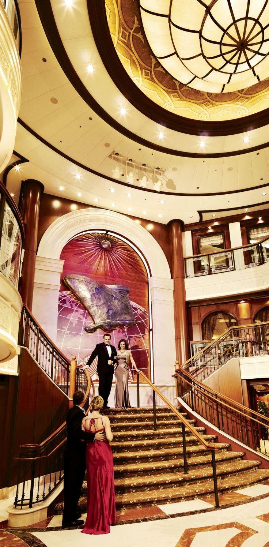 Queen Victoria cruise ship grand lobby.