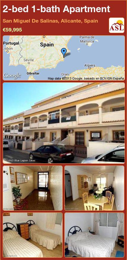 2-bed 1-bath Apartment in San Miguel De Salinas, Alicante, Spain ►€59,995 #PropertyForSaleInSpain
