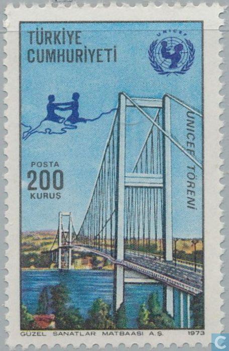 Postage Stamps - Turkey - Bridge over the Bosphorus