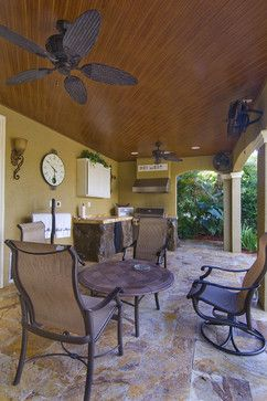 Lanai design patio and built in grill on pinterest for Lanai flooring options