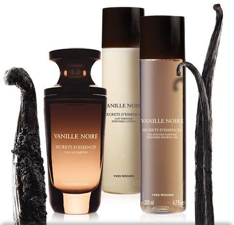 El perfume, el gel de ducha y la crema corporal Vainille Noire de Yves Rocher me encantan, tienen un aroma delicioso y muy chic.