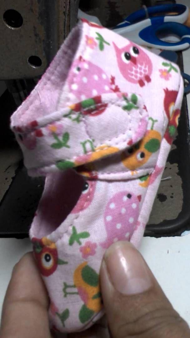 Sapatinho para bebê parte 2