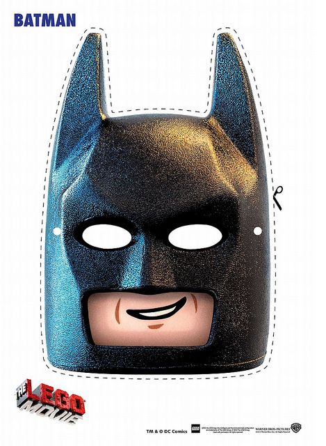 Free Printable LEGO Face Masks #EverythingIsAwesome #lego #batman
