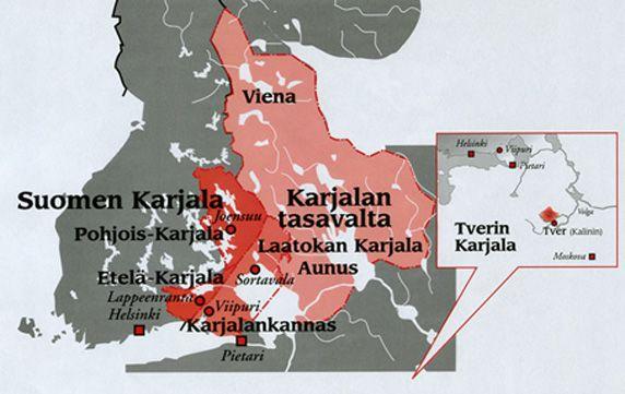 Karjalan alueet