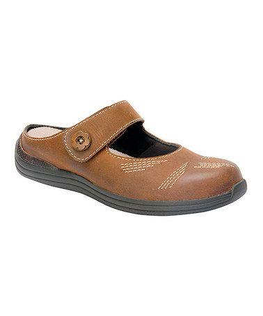 Brown Calf Juniper Leather Mule #zulilyfinds