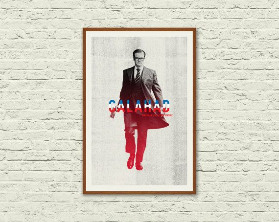 KINGSMAN: The Secret Service. Movie Poster Print. Minimalist Movie Poster. Kingsman Movie. Colin Firth, Taron Egerton, Matthew Vaughn Film