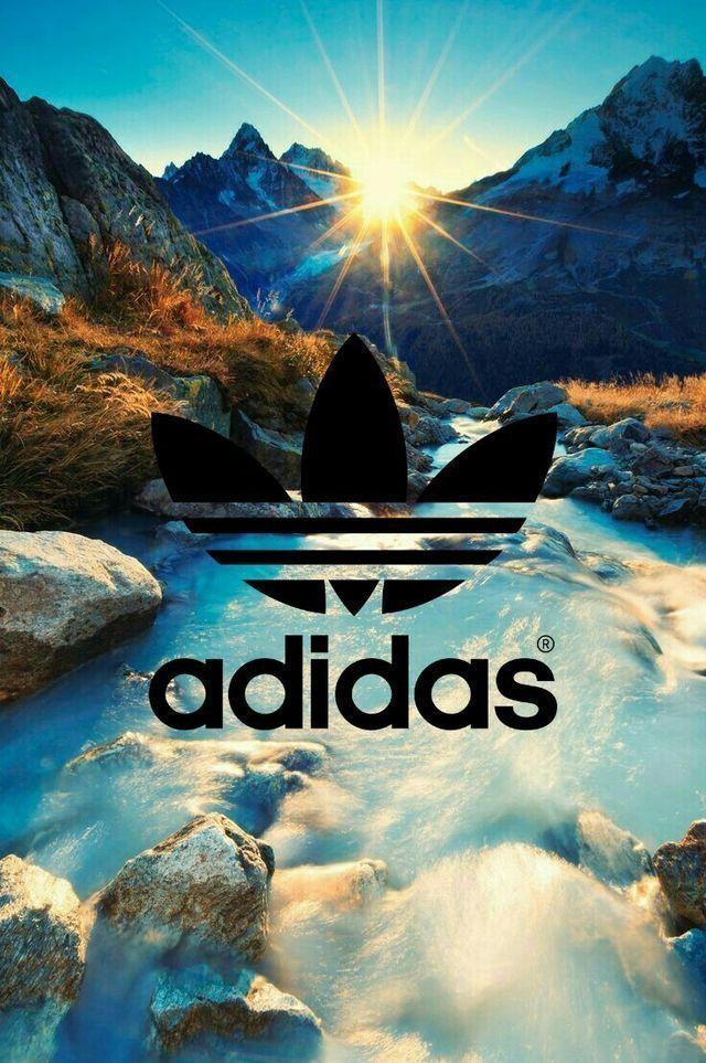 Adidas // Fond d'écran // Iphone Wallpaper // Montagne Soleil