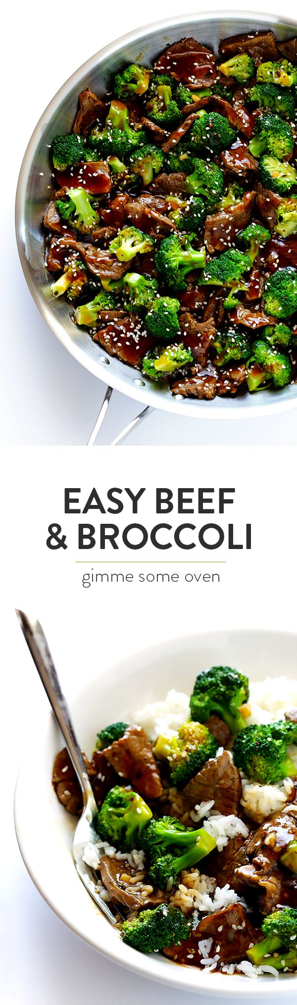 This Chinese Beef and Broccoli recipe is easy to make, ready to go in about 30 minutes, and I'm convinced it's even better than the restaurant version! | gimmesomeoven.com